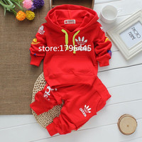 2017 New fashion cotton autumn unisex baby clothing sets children boys suits babies tops+pants 2pcs set infant girl clothes Kids