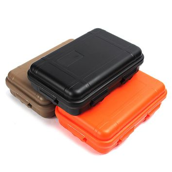 0.95L Outdoor Plastic Waterproof Survival Storage Box Case Large Size Shockproof Airtight Container For Camping Hiking Surfing