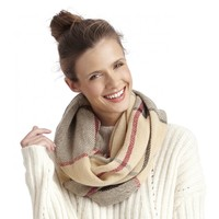 Sole Society Checkered Infinity Scarf