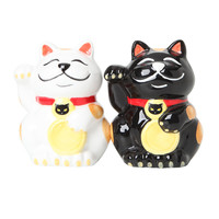 Good Luck Cats Magnetic Salt & Pepper Shakers