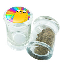 Stash Jar - Glass Pop Top - Adventure Time Jake - Stay Fresh Herbs 1/6 oz.