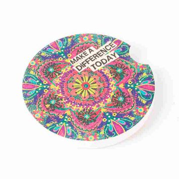 Make A Difference Car Coaster