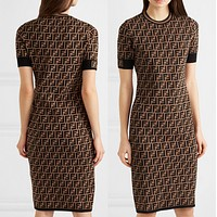 Fendi Women Short Sleeve Dress