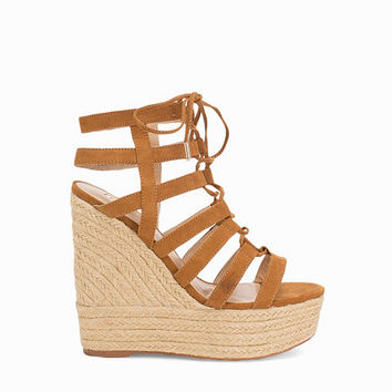 Caged High Wedge, River Island