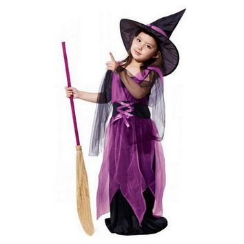 Witch Dress For Girl With Hat
