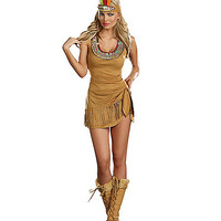 Adult Queen of the Tribe Native American Costume - Spirithalloween.com