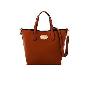 Women's Handbag Brown Leather Messenger Handbag