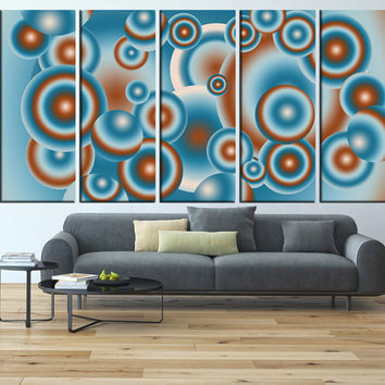 Geometric Wall art print Canvas, large wall Art, minimalist canvas print, extra large wall art bubble, mid century canvas print t592