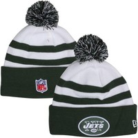 New Era New York Jets Youth On-Field Cuffed Knit Hat - Green/White