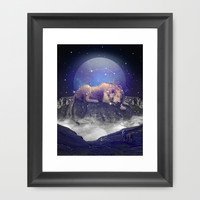 Under the Stars III (Leo) Framed Art Print by Soaring Anchor Designs