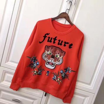 cc kuyou Gucci Sweater Tigre Flower