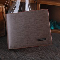Juice Action Men's Casual Leather Fashion Card Holder Bifold Wallet Brown