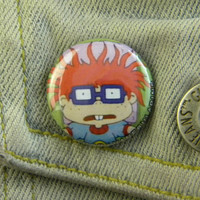 1 Pin Back Button Rugrats /  Chuckie Finster  1597 by VanebulaPins