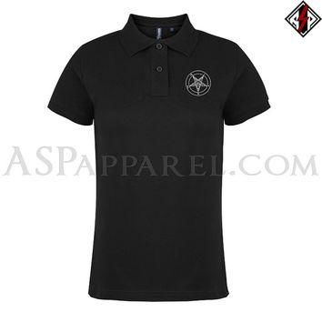Sigil of Baphomet Satanic Ladies' Polo Shirt - FREE Shipping Worldwide! - Official Chu