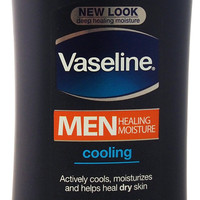 vaseline men healing moisture cooling lotion for
