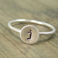 Mother Jewelry - Personalized Jewelry Ring - Typewriter Font - Free Shipping