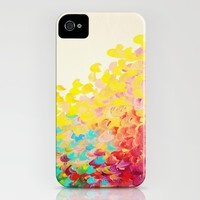 CREATION IN COLOR Rainbow iPhone 4, 4s, 5, 5s, 5c Case, Fine Art Whimsical Hard Plastic Custom Cell Phone Cover, Ocean Waves Colorful Splash Fine Art