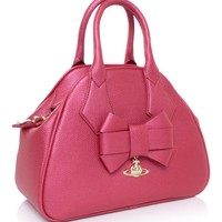 Vivienne Westwood Accessories Bow Bowling Bag Red