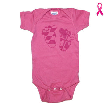 Maryland Feet (Pink) / Baby Onesuit