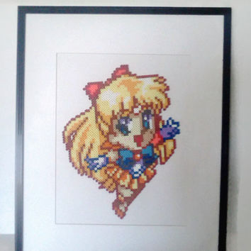 Sailor Moon (Sailor Venus) Large Matted Frame (Clearance)
