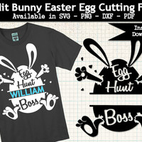 Easter Egg Hunt Boss Split  SVG Cutting File for Silhouette -  Printable Pdf - Transparent Png - DXF Cameo Cutting Machine File