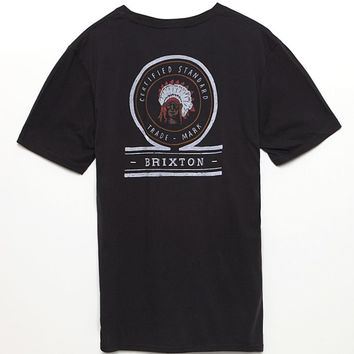 Brixton Crow Premium T-Shirt - Mens Tee - Black