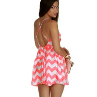 Sale-white Chevron Direction Dress