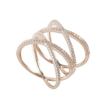 Double Criss-Cross Ring
