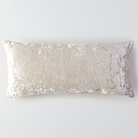 AEO APT Rectangular Velvet Pillow, Gray