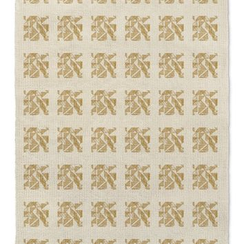 STRIPE TRIANGLE BLOCK PRINT MUSTARD Area Rug By Becky Bailey