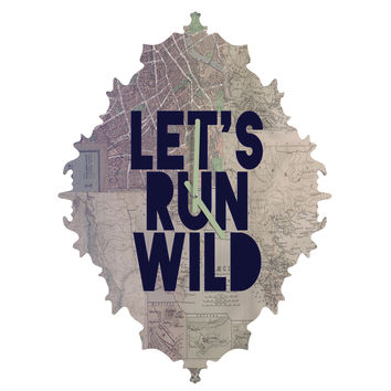Leah Flores Lets Run Wild X Maps Baroque Clock