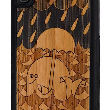 Rainy Day Whale - Case for iPhone X