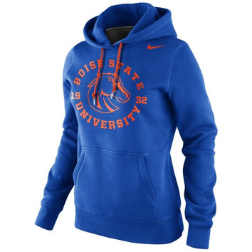 Nike Boise State Broncos Ladies School Stamp Pullover Hoodie - Royal Blue