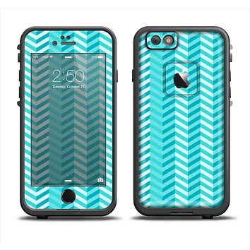 The Light Blue Thin Lined Zigzag Pattern Apple iPhone 6 LifeProof Fre Case Skin Set