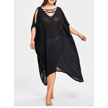 Plus Size Bathing Suit Cover Ups Beach Dress Tunic Cover Up Bikini Cover-ups Robe De Plage 2018 New Big Size Beach Sarongs