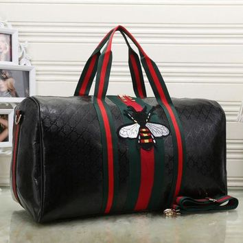 Gucci Women Fashion Leather Embroidery Luggage Travel Bags Tote Handbag H