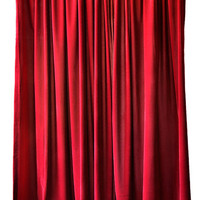 Elegant Burgundy Custom Made Size Length Drapes Theatrical Home Theater/Living Room Window Treatment Velvet Curtain 84 inch High Long Panel