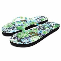 Hot Summer Style Floral Women Printing Sandals Toepost Flip Flops Slippers Beach Shoes