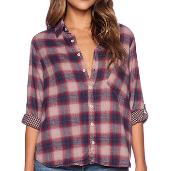 CP SHADES Jay Plaid Button Up in Red