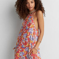 AEO Braided Back Dress, Red