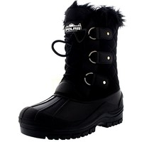 Womens Mid Calf Mountain Walking Tactical Waterproof Boots