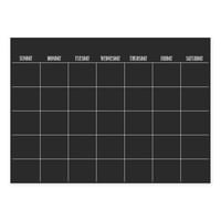 WallPops!® Dry-Erase Monthly Calendar in Black with Dry-Erase Marker
