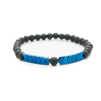 Black Onyx Gemstones Beaded Bracelet for Men and Women