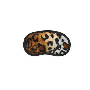One Size Cheetah Print Sleep Eye Mask with Black Studs