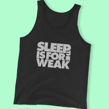 Sleep Is For The Weak Bring Me The Horizon Quote Rock And Roll Heavy Metal Men'S Tank Top