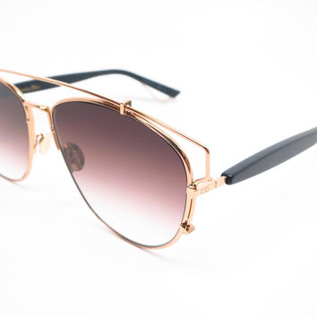 Dior Technologic RHL86 Gold / Black Sunglasses