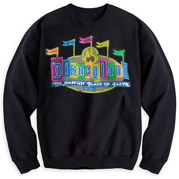 Disneyland Marquee Neon Sweatshirt for Adults