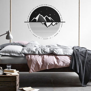 Exceptionnel Geometric Wall Decal   Mountain Decal, Geometric Decals, Modern Wall Decal,  Unique Vinyl