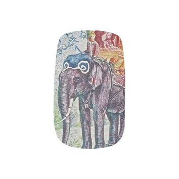 Laos Elephant Stamp Nails