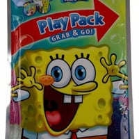 Lot 7 Spongebob Squarepants Play Packs Grab & Go Coloring Book Crayons Stickers